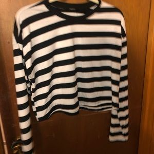 stripe block sweater